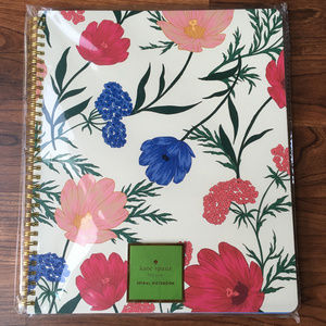 NWT Kate Spade Blossom Large Spiral Notebook